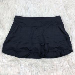 Athleta Layered Black Swagger Skirt